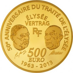 France 2013. 500 euro Europa. Traite de l'Elysee