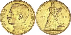 italy 100 lire 1912