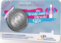 Holland 2013. 5 euro. Utrecht (coincard)