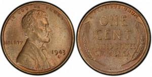 USA 1 cent 1943