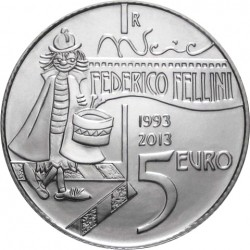 San-Marino 2013. 5 euro. Federico Fellini