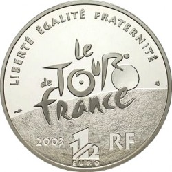 France 2003. 1.5 euro. Tour-de-France. Stage Mountain