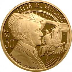 Vatican 2013. 50 euro. Richard Wagner