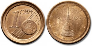 italy 1 eurocent. Mole Antonelliana