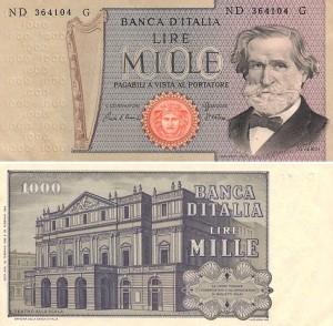 bancnote italy 1000 lire