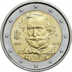 italy 2013. 2 euro. Giuseppe Verdi