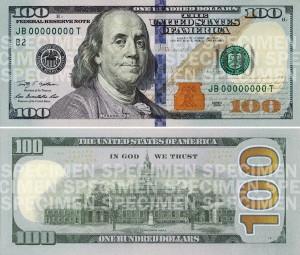 new 100 dollars usa 2013