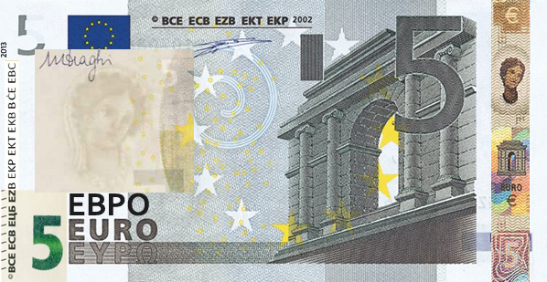 Банкнота в 5 евро образца 2013 года