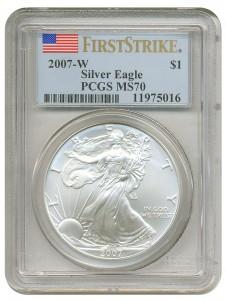 us silver eagle slab 2007