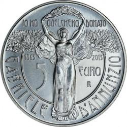Italy 2013. 5 euro. Gabriele d'Annunzio