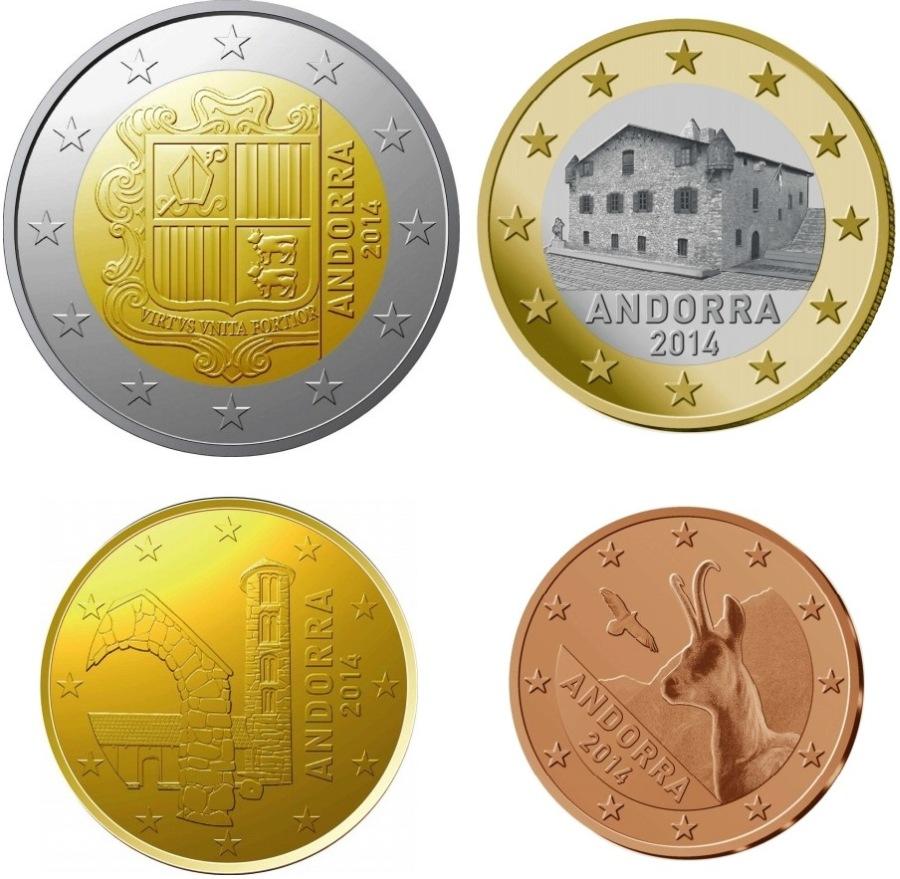 Монеты евро андорры
