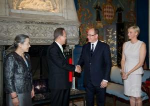 В апреле нынешнего года в ходе рабочей поездки госсекретарь ООН Пан Ги Мун посетил Монако