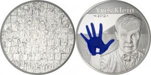 France 2012. 10 euro. Yves Klein