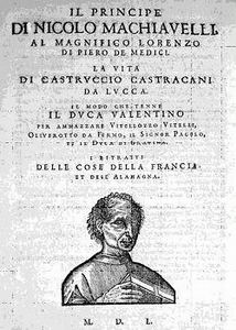 Machiavelli Principe Cover Page