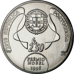 Portugal 2013. 2.5 euro. José de Sousa Saramago