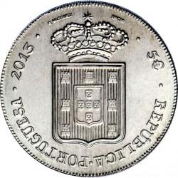 5 евро, Португалия (Песа 1833 года королевы Марии II)