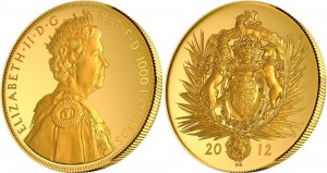 UK 2012. 1000 pounds. diamond Elizabeth II