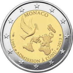 Monaco 2013. 2 euro. United Nations