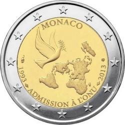 Monaco 2013. 2 euro. United Nations
