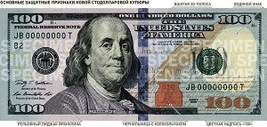 100 us dollars new