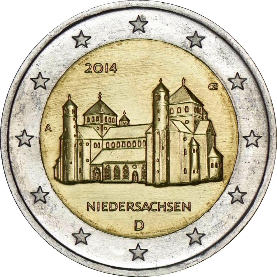 Монеты 2 евро 2014 крейсер ахиллес