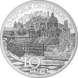 Austria 2014. 10 euro. Salzburg. (Ag 800)