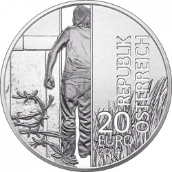 Austria 2014. 20 euro. Iron Curtain