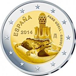 Spain 2014. 2 euro. Antoni Gaudi