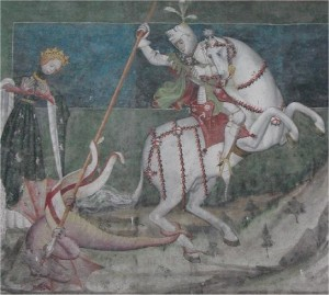 Fenis San George killing the dragon