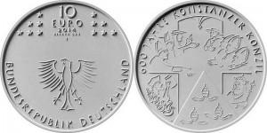 Germany 10 euro 2014 Kohstanzer konzil