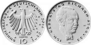 Germany 10 euro 2014 Strauss