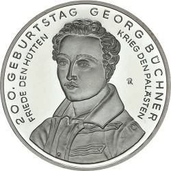 Germany 2013. 10 euro. Georg Büchner (Cu-Ni)