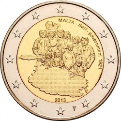 Malta 2014 2 euro. Self-government – 1921