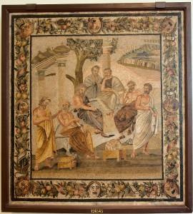 Plato's academy, mosaic from Pompeii