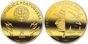 Portugal 2014 0.25 euro Fernando Pessoa