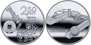Portugal 2014. 2.5 euro. Univer Coimbra