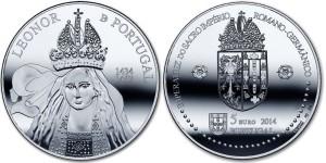 Portugal 2014. 5 euro. Leonor