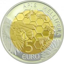 5 euro. Luxemburg 2013. Ápis melliféra
