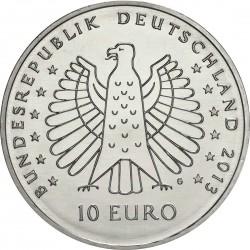 Germany 2013. 10 euro. Heinrich Hertz (Cu-Ni)
