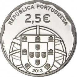 Portugal 2013. 2.5 euro. Submarino (Ag 925)