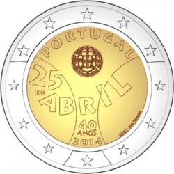 Portugal 2014 2 euro Revolution