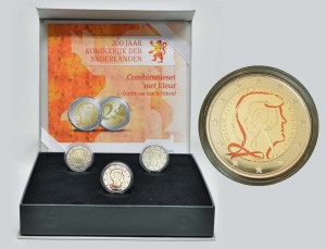 Kingdom of the Netherlands 2 euro 2013 colored box