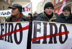 Протесты против введения евро в Риге, 31 января 2013 года