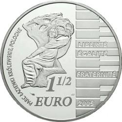 France 2005. 1 1/2 euro. Frédéric Chopin