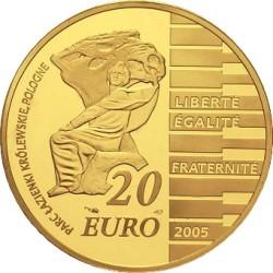 France 2005. 20 euro. Frédéric Chopin