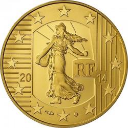 France 2014. 50 euro. Semeuse