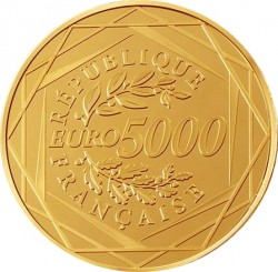 Франция 2014. 5000 евро. Петух