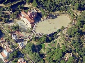 Park Guell aerial