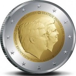 Нидерланды 2014. 2 евро. Двойной портрет