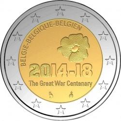 Belgium 2014. 2 euro. WWI
